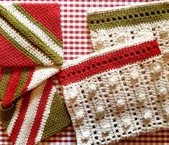 crocheted kitchen towels