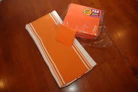 orange kitchen towels